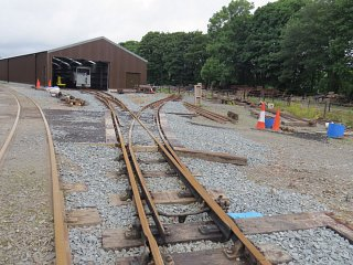 The track fan leading to the waggon tracks shed