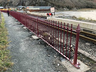 New Fencing on Boston Lodge Curve