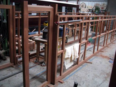 New body being constructed in Boston Lodge Works carriage shed for carriage 103